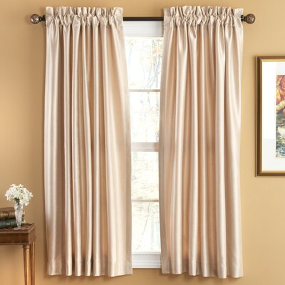 Elegant Home Fashions Evelyn Luxury Faux Silk Rod Pocket Sheer Window Curtains Panel Pair