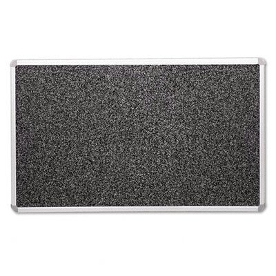 Balt Rubber Tackboard w/ Mounting Hardware, Black Gray