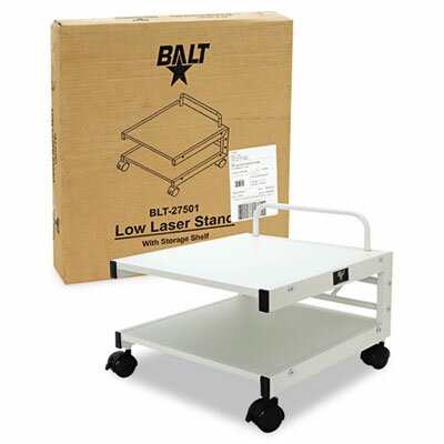 Balt Low Profile Mobile Printer Stand, 17 x 17 x 14, Gray