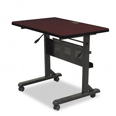 Balt Flipper Training Table, Rectangular, 36w x 24d x 29-1/2h, Mahogany