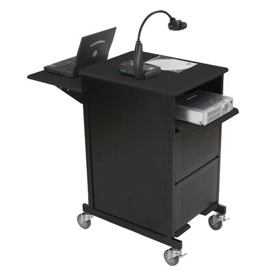 Balt Extra Wide Presentation Cart in Black