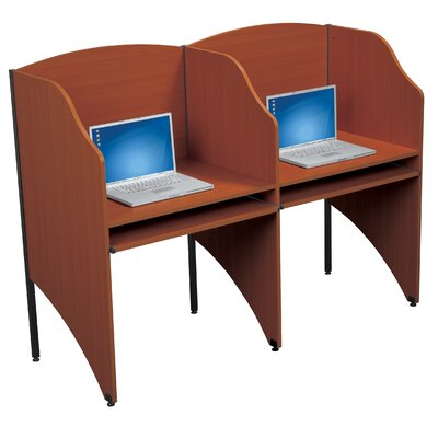 Balt Floor Carrel Cherry Laminate Study Carrel Desk