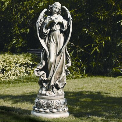 Roman, Inc. Garden Angel with Dove Figurine