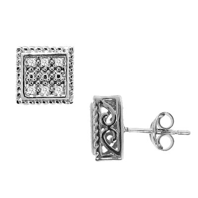 Moise Diamond Square Stud Earrings