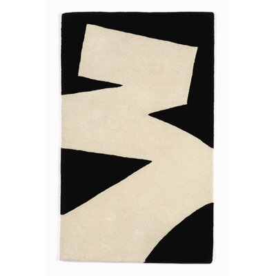 Twinkle Living Brush Stroke White/Black Rug
