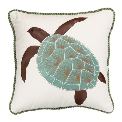 I Sea Life Turtle of The Sea Indoor Cotton Toss Pillow