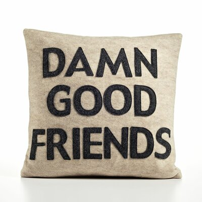 Alexandra Ferguson It Starts with a Kiss Damn Good Friends Decorative Pillow