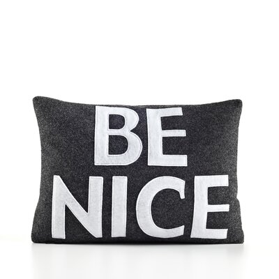 "Alexandra Ferguson ""Be Nice"" Decorative Pillow"