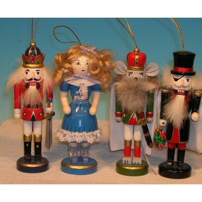 Horizons East Nutcracker Suite Nutcracker Ornament (Box of 4)