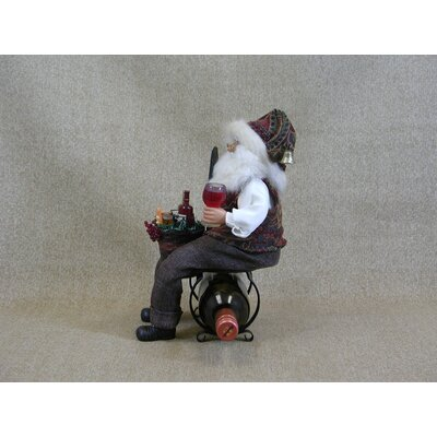 Karen Didion Originals Crakewood Santa Claus Tabletop Wine Rack