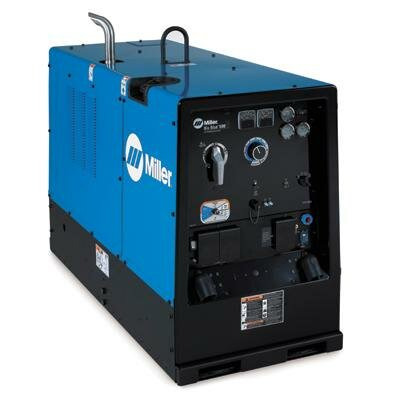 Miller Electric Mfg Co Blue® 500D CC/CV Deluxe Welder/Generator With 47HP Deutz Engine, Engine Gauges, Automatic Idle, Weld Meters, 20000 Watts Peak, 600 Amp