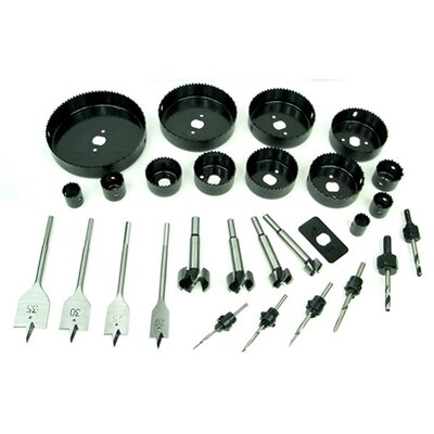 Trademark Global Loaded 31 Piece Hole Saw and Drill Bit Kit
