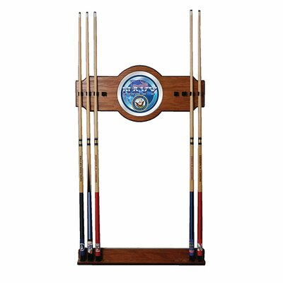 Trademark Global U.S. Navy 2-Piece Wood and Mirror Wall Cue Rack