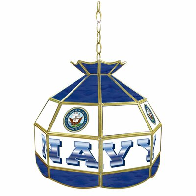 Trademark Global United States Navy Stained Glass Tiffany Lamp