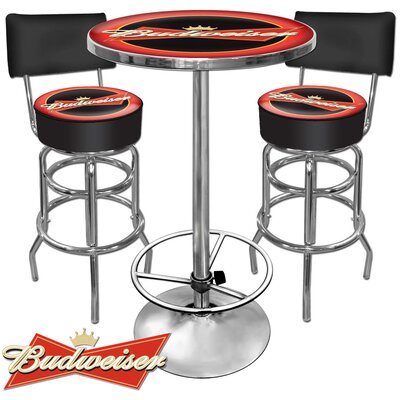 Trademark Global Budweiser Pub Table Set