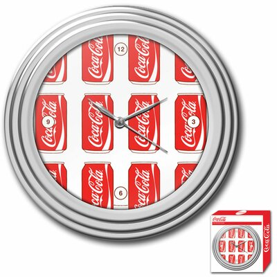 Trademark Global Coca-Cola Cans Style Clock
