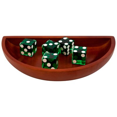 Trademark Global Craps Wooden Dice Boat in Green