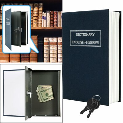 Trademark Global Dictionary Diversion Metal Key Lock Book Safe