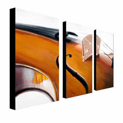 Trademark Global Music Store II 3 Panel Wall Art by Roderick Stevens