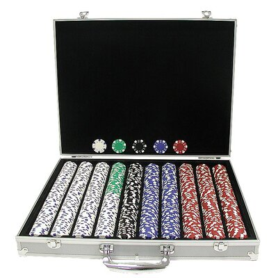 Trademark Global Dice-Striped Chips in Aluminum Case