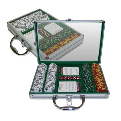 Trademark Global Tri Color Ace/King Suited Chips in Clear Top Case