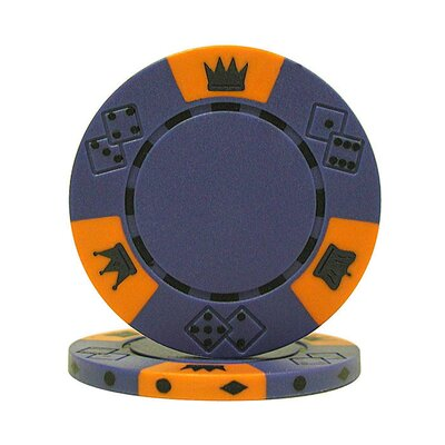 Trademark Global 500 Chip Tri-Color Triple Crown Set with Aluminum Case
