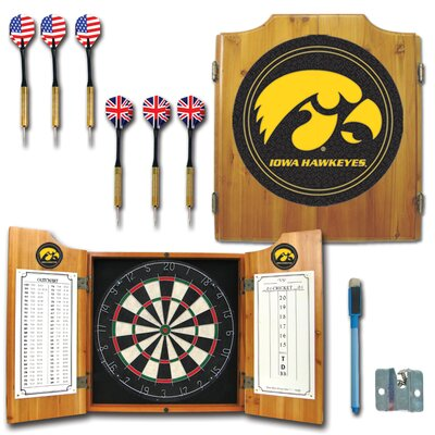 Trademark Global University of Iowa Dart Cabinet in Medium Wood