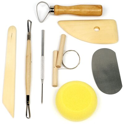 8 Piece Pottery and Clay Modeling Tool Sculpture Set