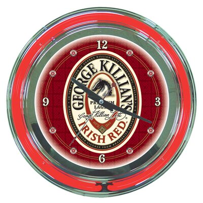 "Trademark Global George Killian 14"" Neon Wall Clock"