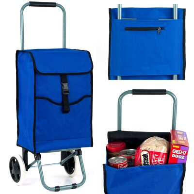 Trademark Global 3 Compartments Portable Canvas Shopping Tote