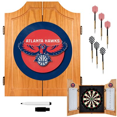 Trademark Global NBA Wood Dart Cabinet Set