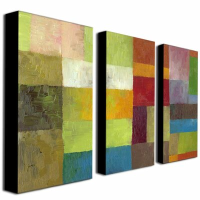 Trademark Global Color Panels IV by Michelle Calkins Canvas Art (Set of 3)