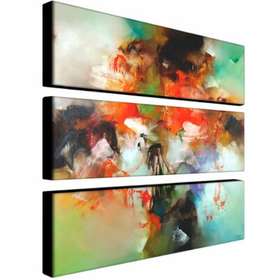 Trademark Global Abstract by Zavaleta Canvas Art (Set of 3)