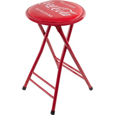 Trademark Global Coca Cola Delicious Refreshing Folding Stool