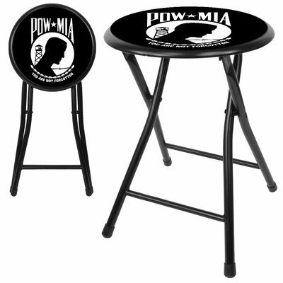 "Trademark Global Pow 18"" Cushioned Folding Stool"
