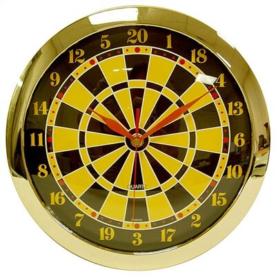 Trademark Global Dartboard Quartz Clock