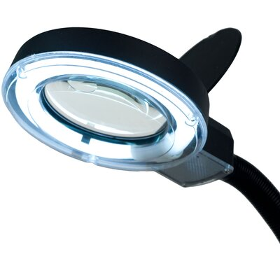 Trademark Global Fluorescent Gooseneck Magnifier Table Lamp with 5 Power Lens