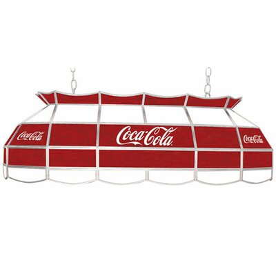 Trademark Global Coca Cola Script V2 Vintage 3 Light Tiffany Vanity Light