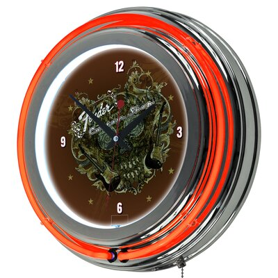 Fender Sea of Sorrow Neon Clock