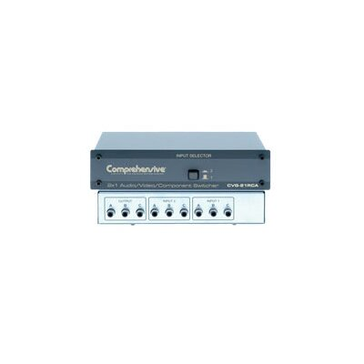 Comprehensive 2 x 1 High resolution Audio / Video / Component Switcher