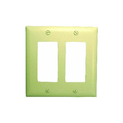 Comprehensive Double Gang Decora Wall Plate Cover in White