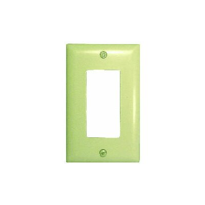 Comprehensive Single Gang Decora Wall Plate Cover in Almond