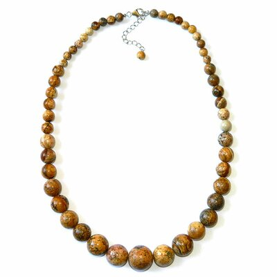 Journey Sterling Silver Picture Jasper Necklace