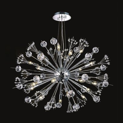 Starburst 20 Light Crystal Chandelier