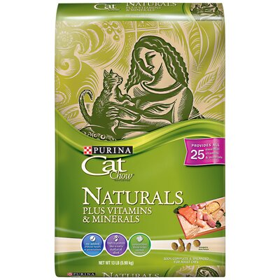 Naturals Plus Vitamin and Minerals Dry Cat Food (13-lb bag)