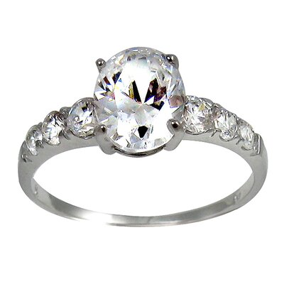 Oval Cut Cubic Zirconia Engagement Ring