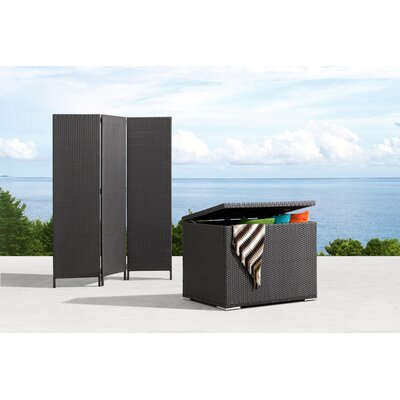 dCOR design Cancun Outdoor Screen Divider in Dark Brown