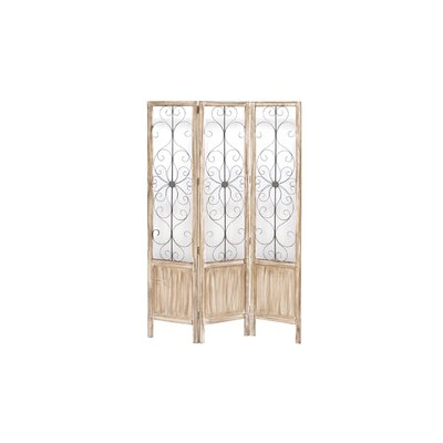 Woodland Imports Wood Metal Room Divider