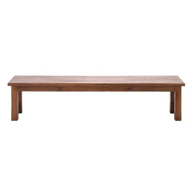 Woodland Imports Wood Dining Bench