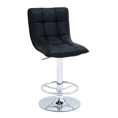 Woodland Imports Adjustable VInyl Bar Stool